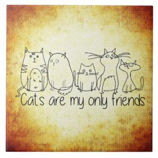猫は私の友人だけです タイル