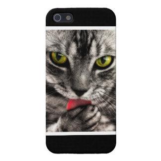 猫は舐めます iPhone SE/5/5sケース