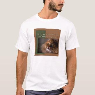 猫は詩歌です Tシャツ