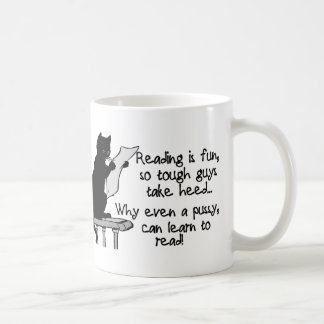 猫は読むことができます コーヒーマグカップ