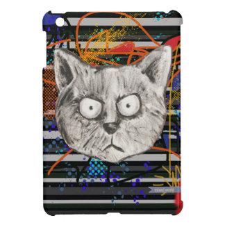 猫は、熱狂する縞で飾ります iPad MINIケース