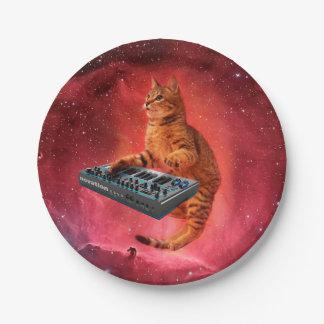 猫は-猫-おもしろいな猫-猫のミーム--を鳴ります ペーパープレート