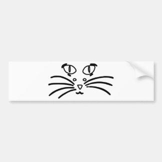 猫またはマウスの目の錯覚 バンパーステッカー