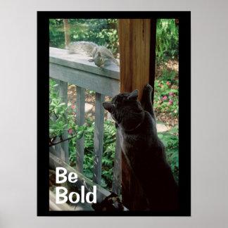 猫を持つはっきりしたなリス ポスター