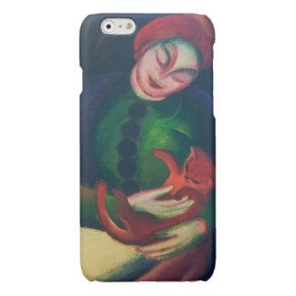 猫を持つ女の子フランツ・マルク著II 光沢iPhone 6ケース