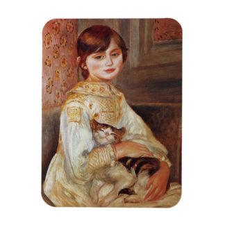 猫を持つ女の子、Augusteルノアール マグネット