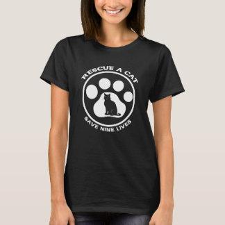 猫を救助して下さい Tシャツ