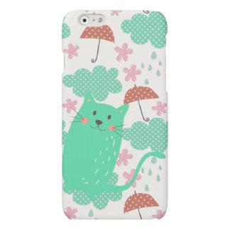 猫を雨が降ること マットiPhone 6ケース