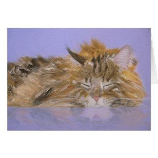 猫カードを夢を見ること カード