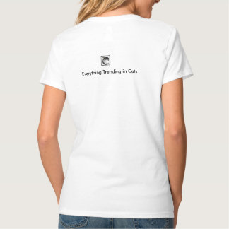 猫テーマの女性のHanesのNano V首のTシャツ Tシャツ