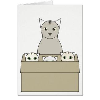 猫テーマの母の日カード カード