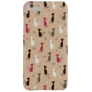 猫パターンピンク BARELY THERE iPhone 6 PLUS ケース