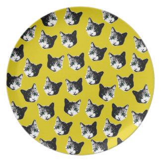 猫パターン プレート