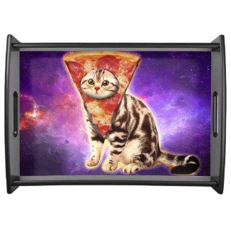 猫ピザ-猫の宇宙-猫のミーム トレー