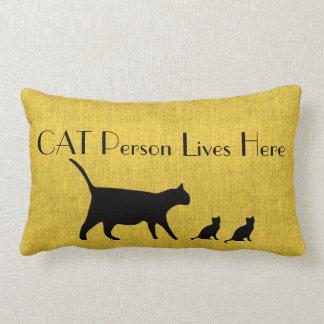 猫人の黄色および黒い腰神経の枕 ランバークッション