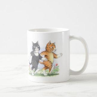猫力の歩くのクラシックのマグ コーヒーマグカップ
