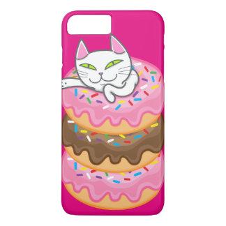 猫及びドーナツ iPhone 8 PLUS/7 PLUSケース