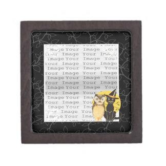 猫及びフクロウのハロウィンの結婚式の記念品箱 ギフトボックス