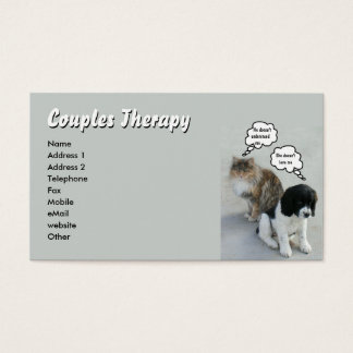 猫及び犬のカップルのセラピー 名刺