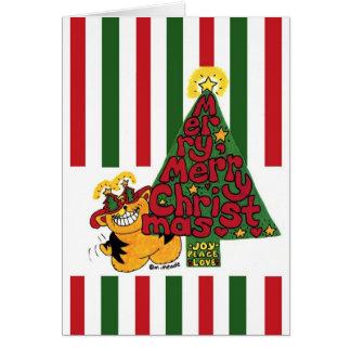 猫好きのクリスマスカード カード