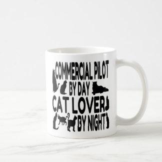 猫好きのコマーシャルのパイロット コーヒーマグカップ