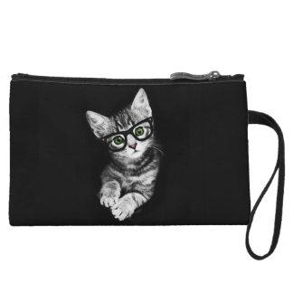 猫好きのヒップスターの子猫の小型クラッチ・バッグ クラッチ