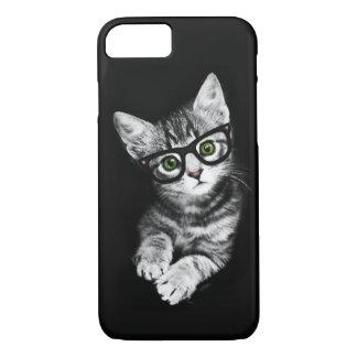 猫好きのヒップスターの子猫のiPhone 7の場合 iPhone 8/7ケース