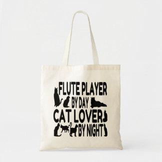 猫好きのフルートプレーヤー トートバッグ