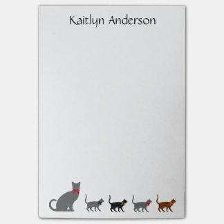 猫好きのポスト・イットは、wの名前を個人化します ポストイット