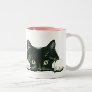 猫好きのマグのおもしろいな猫 ツートーンマグカップ