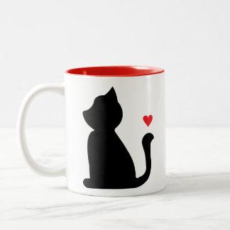 猫好きのマグ ツートーンマグカップ