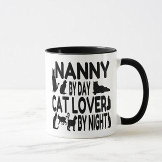 猫好きの乳母 マグカップ