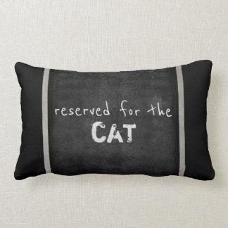 猫好きの引用文の枕ユーモアの灰色および白 ランバークッション