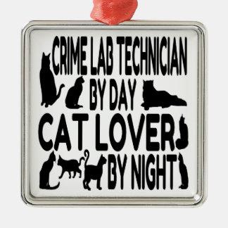 猫好きの科学捜査研究所の技術者 メタルオーナメント