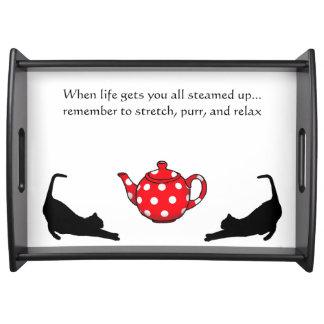 猫好きの茶皿 トレー
