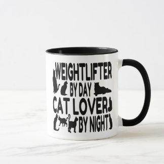猫好きの重量挙げ選手 マグカップ