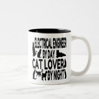 猫好きの電気技師 ツートーンマグカップ