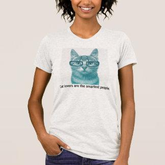 猫好きは最も頭が切れるな人々です Tシャツ