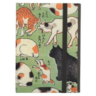 猫尽両めん合、江戸時代、Yoshifuji、Ukiyo-eの芳藤猫 iPad Airケース