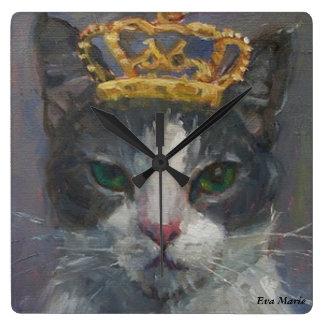 猫尾ギャラリーの柱時計-王であることはよいです スクエア壁時計