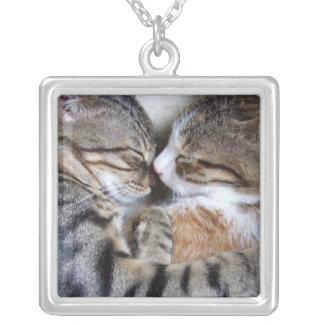 猫愛ネックレス シルバープレートネックレス