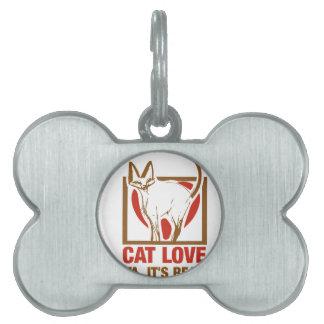 猫愛実質! ペットネームタグ