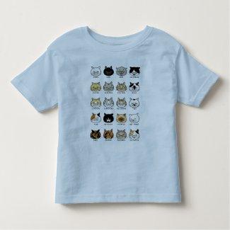 猫柄【ブサ猫】カラー トドラーTシャツ