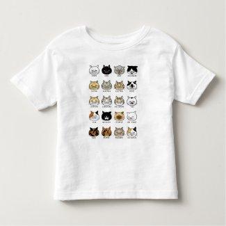 猫柄【ブサ猫】トドラー トドラーTシャツ