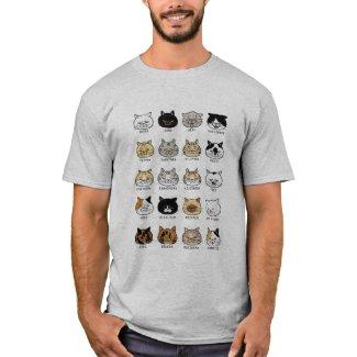 猫柄【ブサ猫】ライトカラー Tシャツ