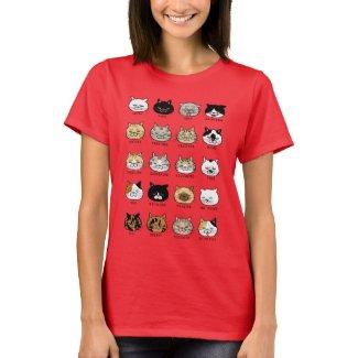 猫柄【ブサ猫】レディース 鮮やかプリント Tシャツ