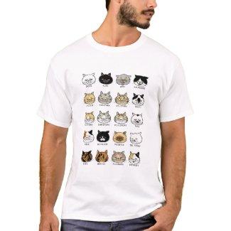 猫柄【ブサ猫】白 Tシャツ