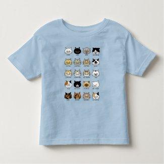 猫柄【ブサ猫】鮮やかプリント トドラーTシャツ