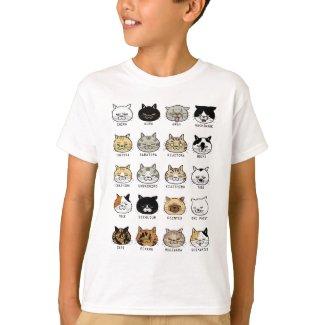 猫柄【ブサ猫】 Tシャツ