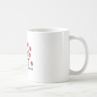 猫歩行の足 コーヒーマグカップ